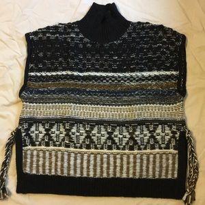 Madewell side tie fair isle knit sweater vest